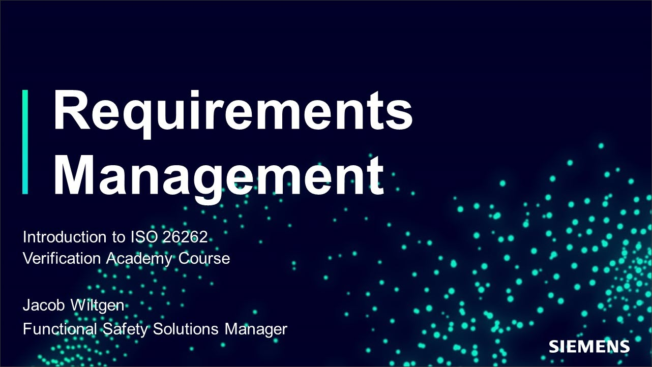ISO 26262 Requirements Management Session | Subject Matter Expert - Jacob Wiltgen | Introduction to ISO 26262 Course