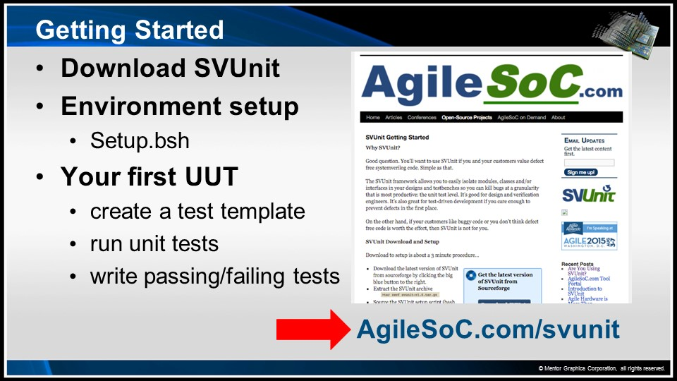 Your First Unit Test! Session | Subject Matter Expert - Neil Johnson, XtremeEDA | Introduction to Unit Testing with SVUnit Course