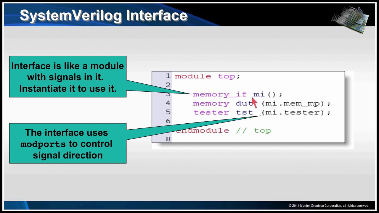 SystemVerilog Interfaces Session | Subject Matter Expert - Ray Salemi | Introduction to the UVM Course
