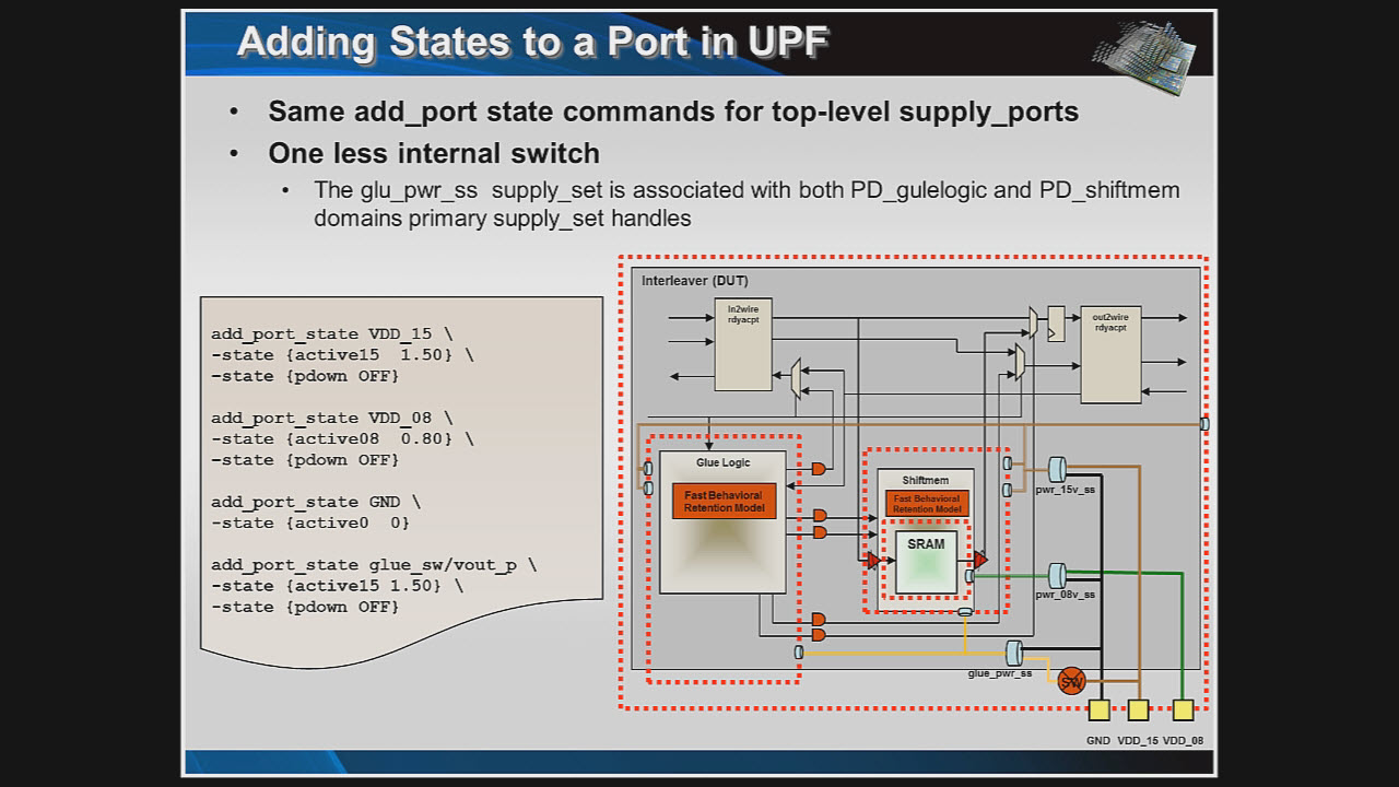 A Simple UPF Example Session | Subject Matter Expert - Chuck Seeley | Power Aware Verification Course