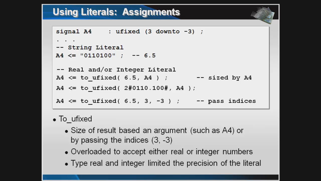 VHDL-2008 Fixed Point Package Session   Subject Matter Expert - Jim Lewis   VHDL-2008 Why It Matters Course