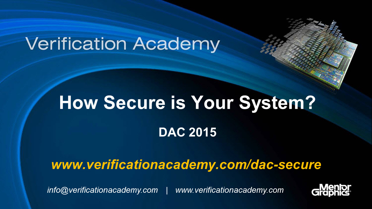 DAC 2015 | Formal Verification Wednesday | How Secure is Your System?