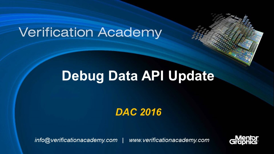 DAC 2016 | Debug Data API Update