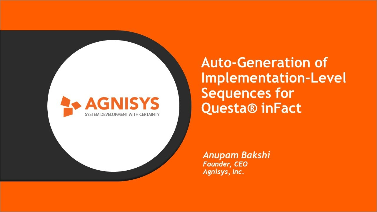 DAC 2019 | Auto-Generation of Implementation-Level Sequences for PSS