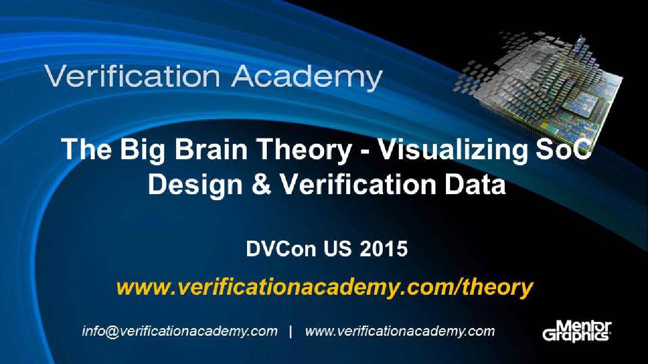 DVCon US 2015 Poster Paper - The Big Brain Theory - Visualizing SoC Design & Verification Data