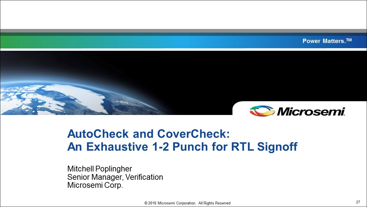DVCon 2017   How Do I Verify My Rescue Drone's RTL   An Exhaustive 1-2 Punch for RTL Signoff