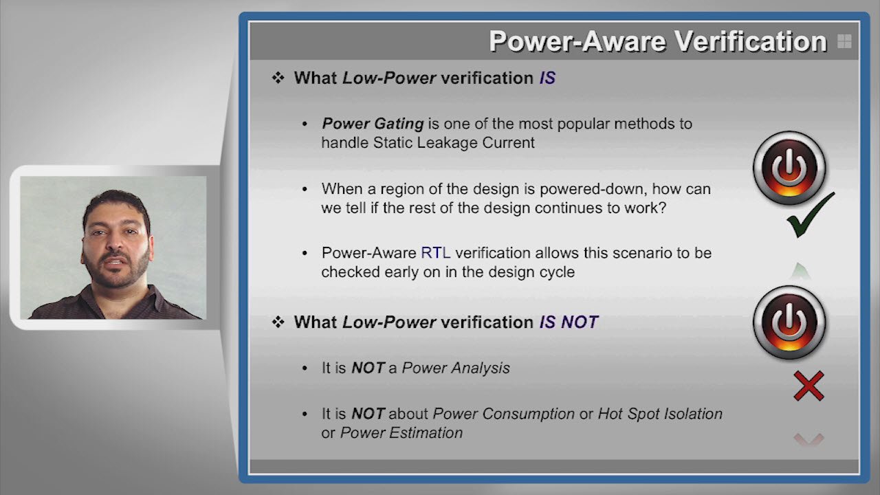 Extend Power-Aware Verification to AMS Session | Subject Matter Expert - Ahmed Eisawy | Improve AMS Quality Course