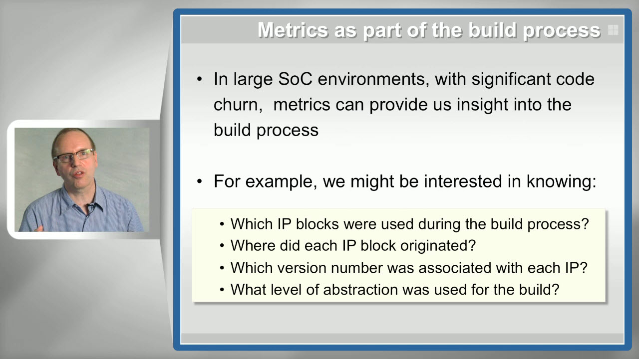 What Can Metrics Tell Us? Session | Subject Matter Expert - Andreas Meyer | Metrics in SoC Verification Course