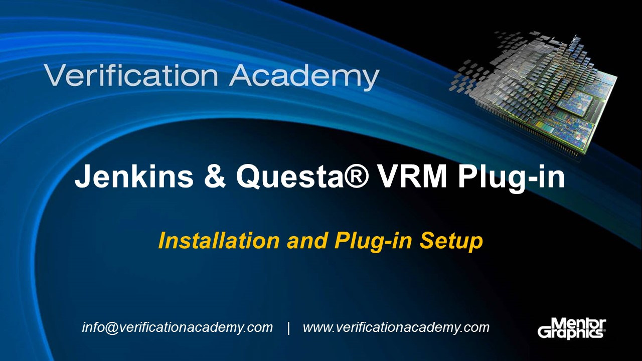 Jenkins & Questa VRM Plug-in | Installation and Plug-in Setup | Darron May