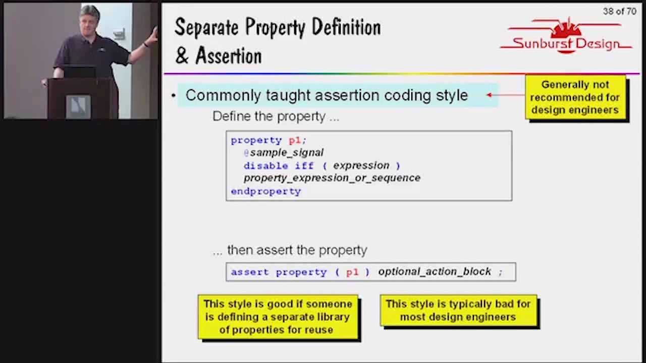 Concise SystemVerilog Concurrent Assertions Session | Subject Matter Expert - Cliff Cummings | Assertion-Based Verification for FPGA and IC Design Seminar