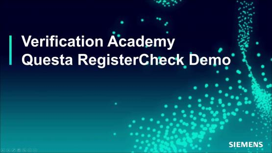 Register Check Demo Session | Subject Matter Expert - Mark Eslinger | Formal-Based Technology: Automatic Formal Solutions Course