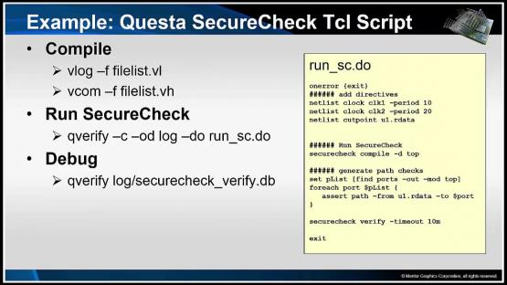 Questa SecureCheck Demo Session | Subject Matter Expert - Mark Eslinger | Formal-Based Technology: Automatic Formal Solutions Course