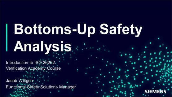 Functional Safety: ISO 26262 Bottoms-Up Safety Analysis Session | Subject Matter Expert - Jacob Wiltgen | ISO 26262 in Simple Terms Course