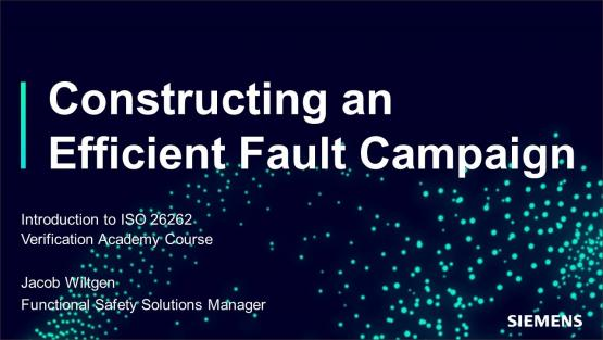 Functional Safety: ISO 26262 Fault Campaign Management Session | Subject Matter Expert - Jacob Wiltgen | ISO 26262 in Simple Terms Course