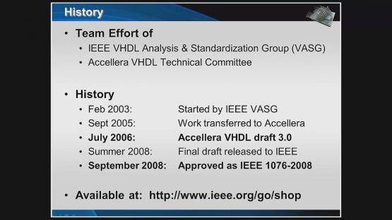VHDL-2008 Overview Session | Subject Matter Expert - Jim Lewis | VHDL-2008 Why It Matters Course