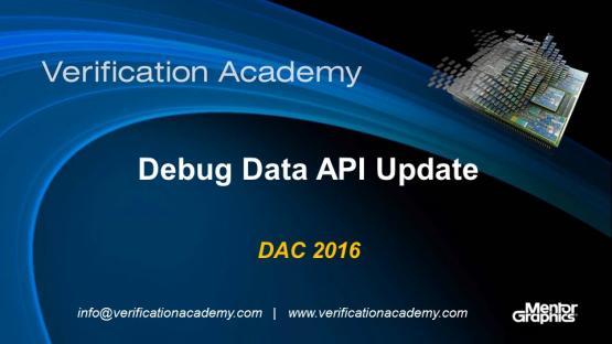 DAC 2016 | Debug Data API Update