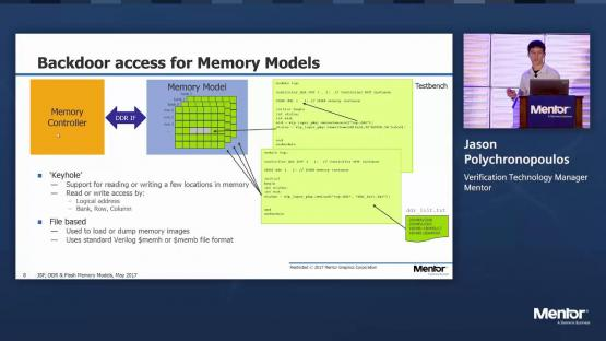 Leveraging the latest DDR & Flash Memory Models | Silicon Valley Design & Verification IP Forum | Jason Polychronopoulos