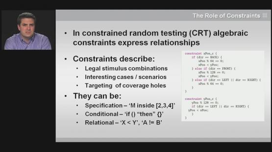Combining Rule Graphs and Constraints Session | Subject Matter Expert - Steve Chappell | Intelligent Testbench Automation Course