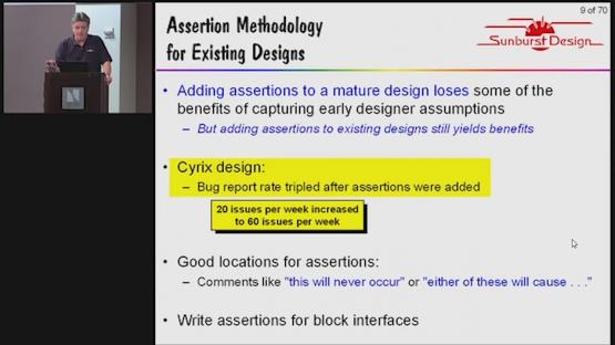 SystemVerilog Assertions Design Tricks & SVA Bind Files Session | Subject Matter Expert - Cliff Cummings | Assertion-Based Verification for FPGA and IC Design Seminar