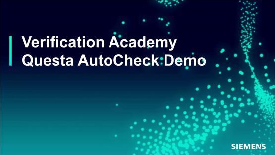 Questa AutoCheck Demo - Advanced Linting Session | Subject Matter Expert - Mark Eslinger