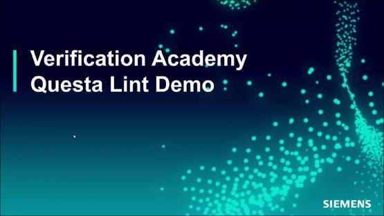Questa Lint Demo Session | Subject Matter Expert - Tom Carlstedt-Duke