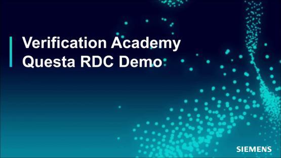 Questa® Reset Domain Crossing (RDC) Demo Session | Subject Matter Expert - Atul Sharma